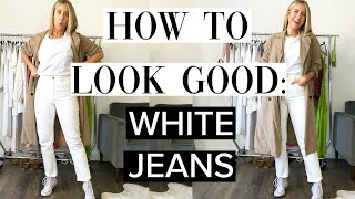 HOW TO LOOK GOOD IN WHITE JEANS THIS FALL | Lindsay Albanese