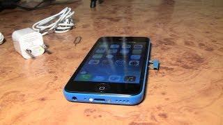 Смотреть онлайн Обзор распаковки китайского айфона 5с