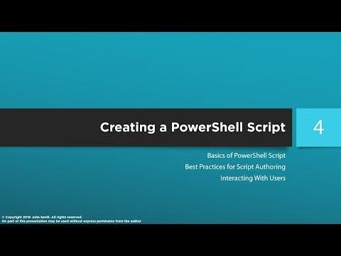 PowerShell Master Class - PowerShell Scripting - YouTube