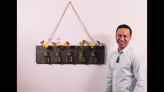 Youtube thumbnail for How to make a rustic hanging flower feature