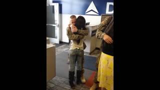 Aaron and kita military homecoming