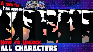 How To Unlock All 8 Characters in Super Smash Bros. for Wii U!