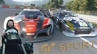 Gran Turismo Sport - онлайн катки 10 кругов Nürburgring GP - Nissan GT-R GT3 N24 Schulze Motorsport