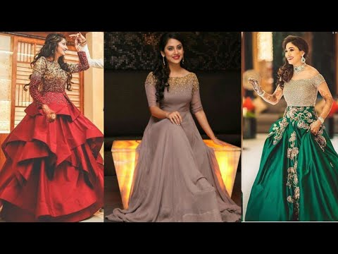 Latest Indian Gown designs for reception/Engagement🎀🎀