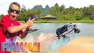 Will It Drive On The Beach?! RC Car Driving On Water In HawaiI!