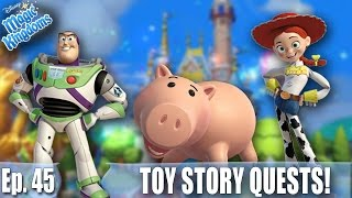 JESSIE LEVEL 10! NEW TOY STORY QUESTS! - Disney Magic Kingdoms Gameplay - Ep. 45