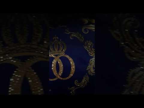 Pompöös by Casa Padrino Luxus Deko Wohn Kissen Barock von Harald Glööckler in Royalblau / Gold