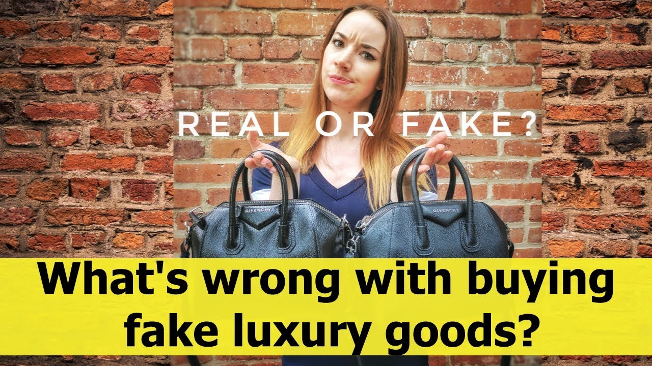 What's wrong with buying fake luxury goods?