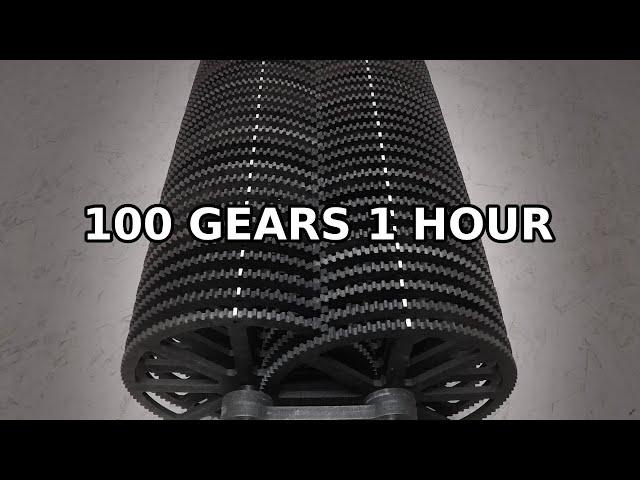 Машина из 100 шестерен наглядно показывает «гугол» – число всех атомов во Вселенной