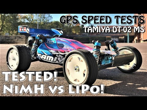 NiMH vs LiPo Battery Top Speed!? RC GPS Speed Tests! (Tamiya DT-02MS Sand Viper Brushless)