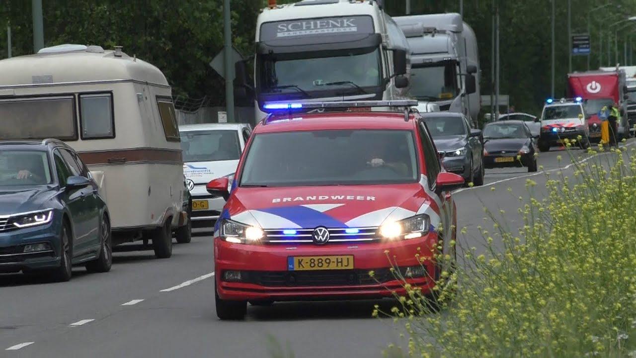 [Primeur] Vele hulpdiensten met spoed naar een grote brand in Dordrecht!