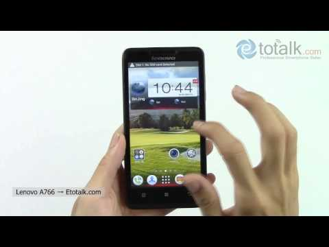 Lenovo A766 Unboxing & Test