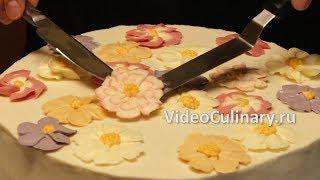 Цветы из крема - рецепт Бабушки Эммы