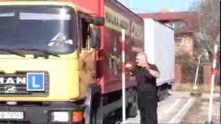 Beata i ciężarówka.  Droga do Prawa Jazdy kat CE