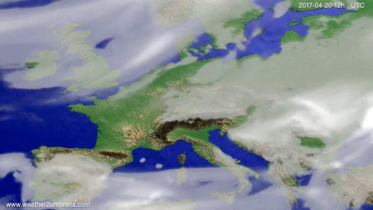 Cloud forecast Europe 2017-04-16