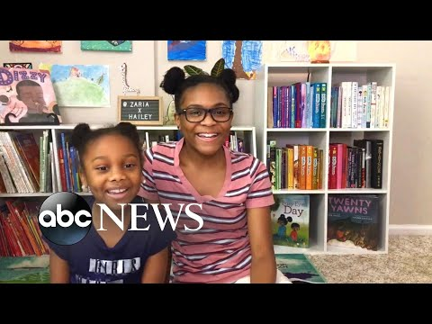 Sisters share their joy of reading, live on social media