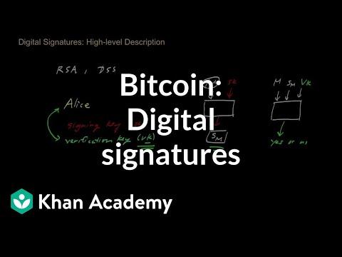 Bitcoin: Digital signatures (video) | Khan Academy