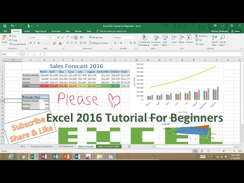 Microsoft Excel 2016 Tutorial For Beginners: Excel Crash Course Refresher for Job Interviews & Exams