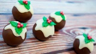 Mini Christmas Pudding Cake Balls