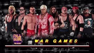 WCW2K18 Fall Brawl 97 Match 10 Wargames Match The Four Horsemen Vs Team NWo