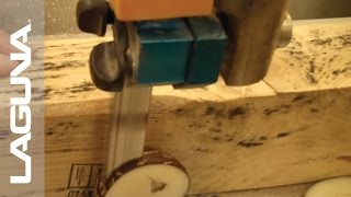 ReSawKing Blade Cutting through Taguas Nut - Laguna Tools