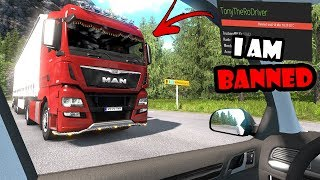 ★ IDIOTS On The Road #57 - BANNED For One Month - ETS2mp Funny Moments - Euro Truck Simulator 2
