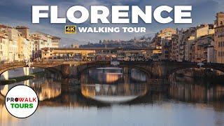 Florence, Italy Long Walking Tour (4K/60fps)