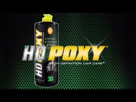 How to apply HD POXY on the exterior finish of your car.