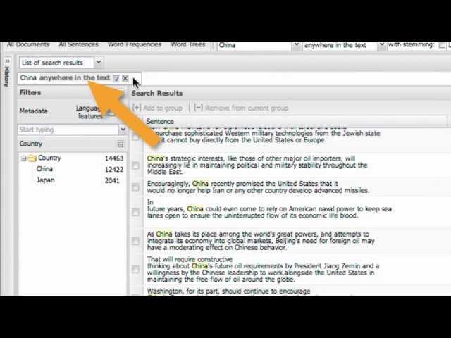 WordSeer 3.0 Demos: Search