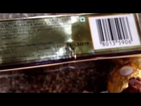 ferrero rocher! Has worms in it .. Must watch see what I have found .. Unbelievable ,