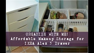 Organize With ME! Affordable Makeup Storage For Ikea Alex 5