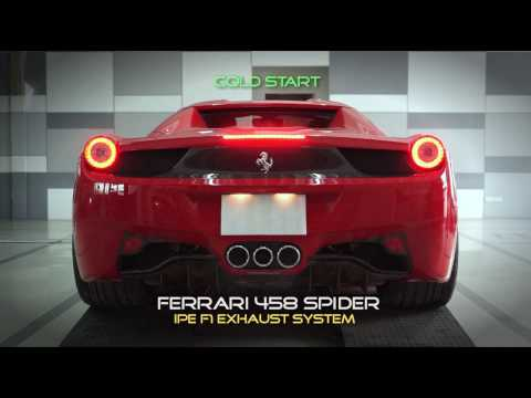 FERRARI 458 w/ IPE F1 exhaust full system ( BACKFIRE )