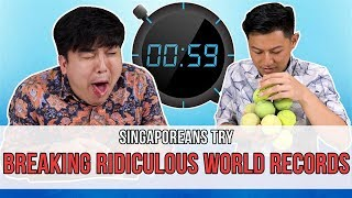 Singaporeans Try: Breaking Ridiculous World Records (feat. Joie Tan & LEW) | EP 112