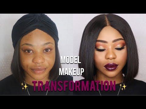 MODEL MAKEUP TRANSFORMATION | CUT CREASE GLAM! #3