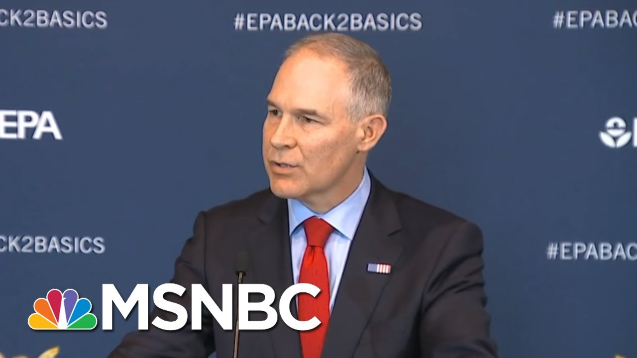 EPA Chief Scott Pruitt Is Just Following President Donald Trump's Lead | All In | MSNBC thumbnail