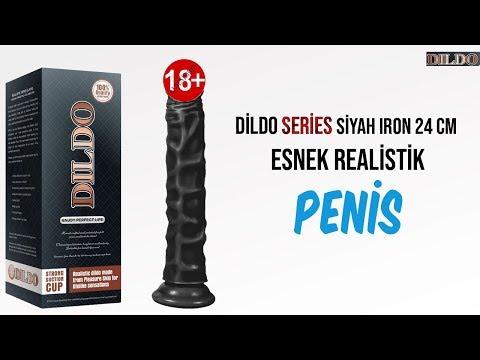 Dildo Series Siyah Iron 24 Cm Esnek Realistik Penis Dildo