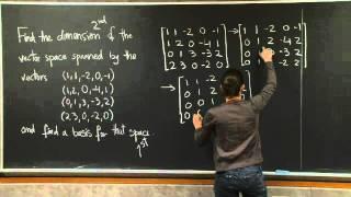Basis and Dimension  MIT 18.06SC Linear Algebra, Fall 2011