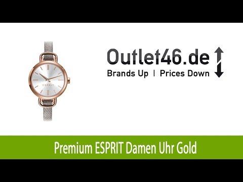 Premium ESPRIT Damen Uhr Gold   Outlet46.de