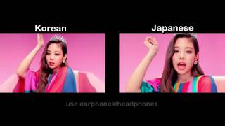 BLACKPINK   'DDU DU DDU DU' COMPARISON (Korean And Japanese)