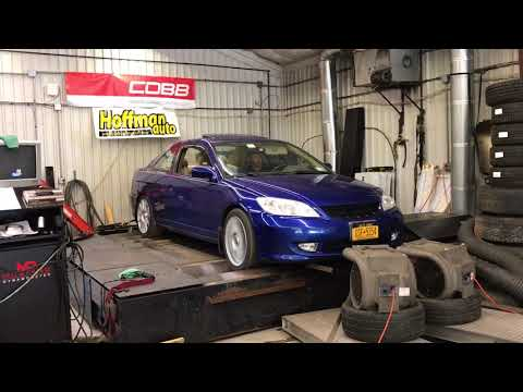 Modified 2004 Honda Civic EX Dyno Run