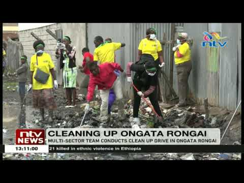 Multi-sector team conducts clean up drive in Ongata Rongai