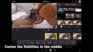 Adding Subtitles to video in iMovie for iOS 9