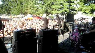 Warped Tour 2010 Hillsboro, Everclear Volvo driving soccer mom from on stage