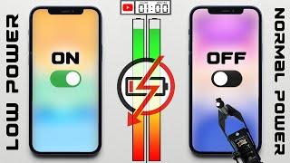 Low Power Mode vs Normal Power Mode Battery Test