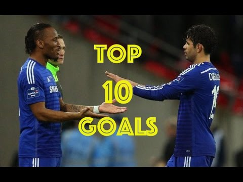 Top 10 Goals of Diego Costa and Didier Drogba | Chelsea FC | HD1080