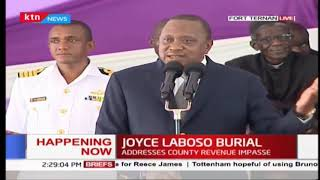 Let's not preach water and drink wine, Uhuru's message to Kenyans at Joyce Laboso's final send-off