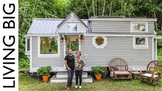 Couple Downsize Into Dream Off-The-Grid Tiny House