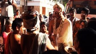 Welcoming Groom in Kannada Brahmin marriage
