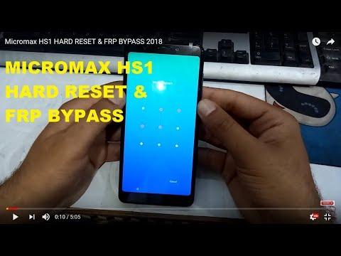 Micromax HS1 HARD RESET & FRP BYPASS 2018