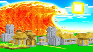 PROTECT THE VILLAGE FROM *GIANT* LAVA TSUNAMI!